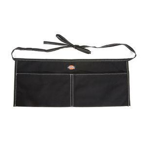 2-Pocket Canvas Apron, Black