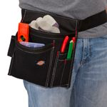 Thumbnail - 5 Pocket Single Side Tool Pouch Work Apron Black - 3