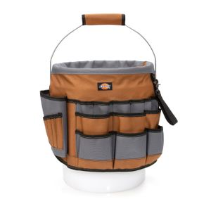 35-Pocket Bucket Organizer With Drill Holster