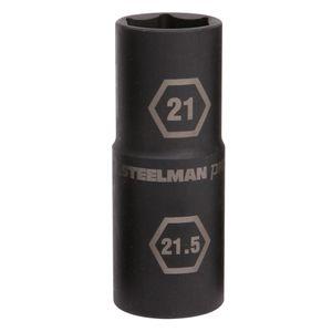 1/2-Inch Drive 21mm x 21.5mm Thin Wall Impact Flip Socket