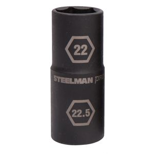 1/2-Inch Drive 22mm x 22.5mm Thin Wall Impact Flip Socket