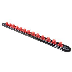 3 8 Inch Drive 13 Piece Aluminum Socket Storage Rail