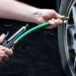 Thumbnail - Straight Chuck Tire Inflator with Built In Gauge with 12 Inch Green Hose - 41