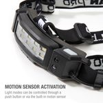Thumbnail - Slim Profile LED 250 Lumen Motion Activated Headlamp with Rear Red Blinker 3xAA battery powered - 41