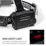 Thumbnail - Slim Profile LED 250 Lumen Motion Activated Headlamp with Rear Red Blinker 3xAA battery powered - 61
