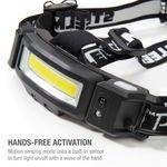 Thumbnail - 200 Lumen Motion Activated Slim Profile Multi Mode Rechargeable COB LED Headlamp - 41