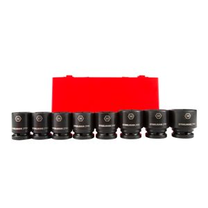 3 4 Inch Drive 6 Point Shallow Metric Impact Socket Set 8 Piece