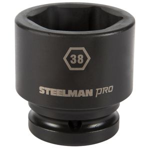 3 4 Inch Drive by 38mm 6 Point Shallow Impact Socket