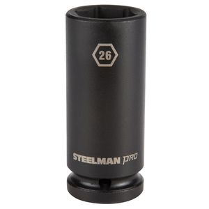 3 4 Inch Drive by 26mm 6 Point Deep Impact Socket