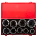 Thumbnail - 1 Inch Drive 6 Point Shallow SAE Impact Socket Set 9 Piece - 11