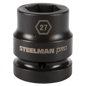 1 Inch Drive by 27mm 6 Point Shallow Impact Socket
