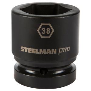 1 Inch Drive by 38mm 6 Point Shallow Impact Socket