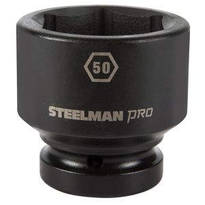 1 Inch Drive by 50mm 6 Point Shallow Impact Socket