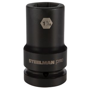 1 Inch Drive by 1 1 16 Inch 6 Point Thin Wall Deep Impact Socket