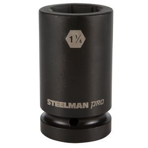 1 Inch Drive by 1 1 4 Inch 6 Point Thin Wall Deep Impact Socket