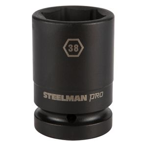 1 Inch Drive by 38mm 6 Point Thin Wall Deep Impact Socket