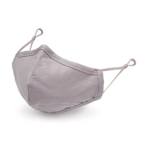 Washable Grey Cotton Fabric Face Mask