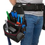 Thumbnail - 21 Compartment Work Belt Contractor Pouch with Hammer Loop - 71
