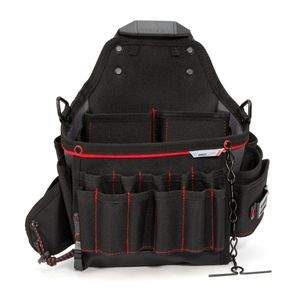 26-Compartment Work Belt Electrician Pouch with Tape Chain