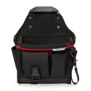 12-Compartment Work Belt Utility Pouch with Tape Loop