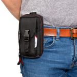 Thumbnail - 4 Compartment Zippered Work Belt Cell Phone Pouch - 81