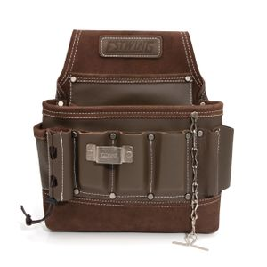 8-Pocket Leather Electrician's Tool Pouch