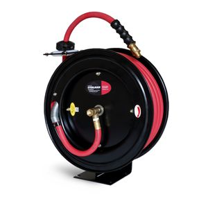 Enclosed Spring Pneumatic Hose Reel with 50-Foot 1/2-Inch ID Rubber Hose