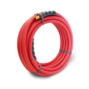 30-Foot x 3/8-Inch Rubber Air Hose with 1/4-inch Male NPT Brass Fittings