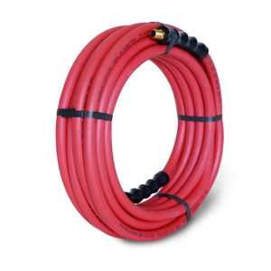 35-Foot x 3/8-Inch Rubber Air Hose with 1/4-inch Male NPT Brass Fittings