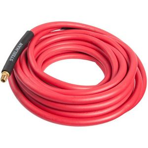 50-Foot x 3/8-Inch Rubber Air Hose with 1/4-inch Male NPT Brass Fittings