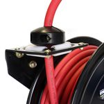 Thumbnail - Enclosed Spring Pneumatic Hose Reel with 35 Foot 3 8 Inch ID Rubber Air Hose - 31