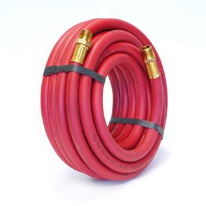 30-Foot x 3/8-Inch Rubber Air Hose with 3/8-inch NPT Fittings