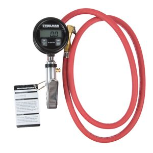 0-150 PSI Digital Gauge Inflator with 5-Foot Whip Hose