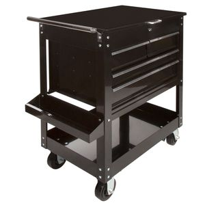 Black 5-Drawer Tool Cart