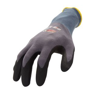 AX360 Seamless Knit Nitrile Dipped Dotted Grip Work Gloves