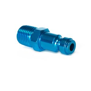 1/4-Inch Plated Steel Quick Disconnect Plug with 1/4-Inch Male NPT Threads