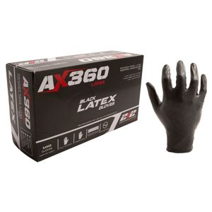AX360 Disposable Latex Gloves 100ct
