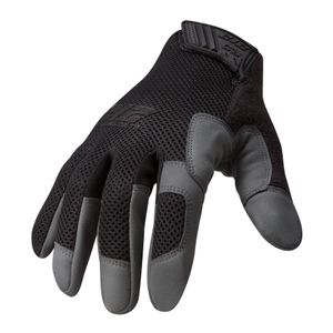 High Abrasion Air Mesh Cut 3 Touch Screen Gloves in Black
