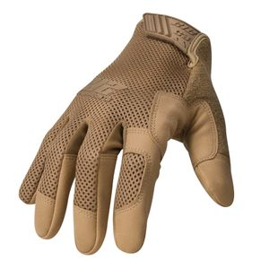 High Abrasion Air Mesh Cut Resistant 3 Touch Screen Gloves in Coyote