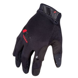 Silicone High Grip Touch Screen Mechanic Gloves in Black