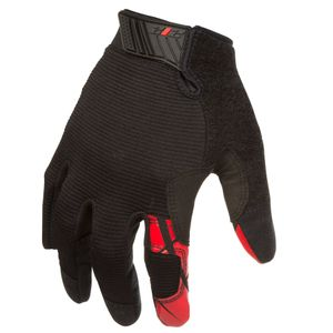Silicone Grip Touch Screen Mechanic Gloves in Black and Red