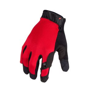 Silicone Grip Touch Screen Mechanic Gloves in Red