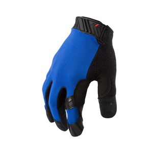 Silicone Grip Touch Screen Mechanic Gloves in Blue