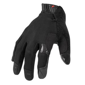 GSA Compliant Silicone Grip Touch Screen Mechanic Gloves in Black