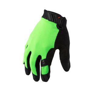 Silicone Grip Touch Screen Mechanic Gloves in Hi Viz Green