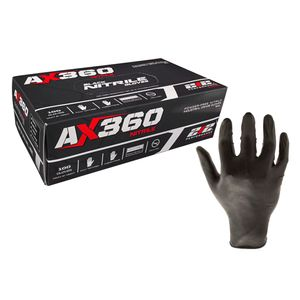 AX360 Disposable Nitrile Gloves Latex Free 100ct