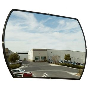 Acrylic Rectangular Convex Security Mirror with Mounting Hardware, 15x24-Inches