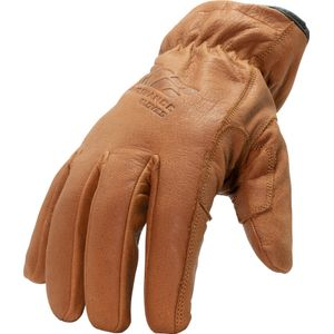 Fleece Lined A3 Cut Resistant Buffalo Leather Driver Winter Work Gloves