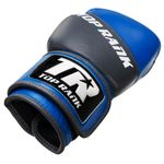 Thumbnail - Champion Grade A Leather Training Boxing Glove in Gray and Blue - 31