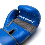 Thumbnail - Champion Grade A Leather Training Boxing Glove in Gray and Blue - 21